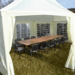 Namiot dla 15 osób – kremowy – 4x6m – 24m2