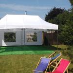 Namiot dla 30 osób – biały – 6x6m – 36m2 – opcja I